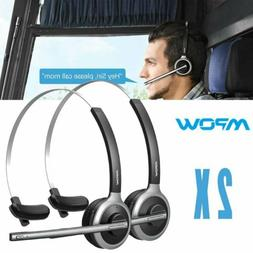 2 Pack Mpow Wireless Bluetooth V 4.1 Headset Truck Driver Ea