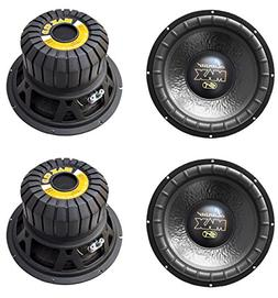 "4) LANZAR MAX12D 12"" 4000W Car Audio Subwoofers Subs Power W"