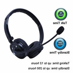 Bluetooth 4.1 Stereo Noise Cancelling Boom Mic Headset Headp