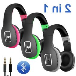 Bluetooth 4.1 Wireless Foldable Stereo Over Ear Headphones/H