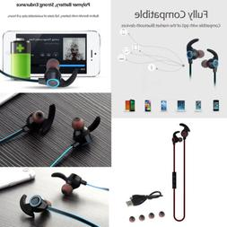 Bluetooth 4.1 Wireless Music Sports Earphones Flat Wire Ster