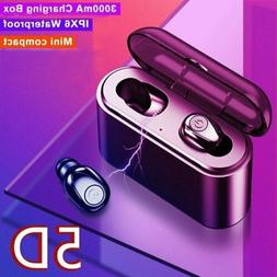 Bluetooth 5.0 Earbuds Headphones Wireless Headset Deep Bass