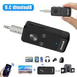 Bluetooth 5.0 Receiver Adapter 3.5mm Jack Car AUX Stereo For