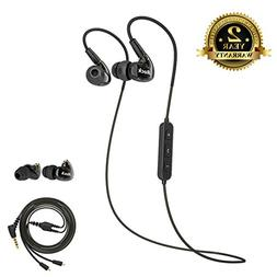 Bluetooth Sport Earbuds, A8s Dual Driver Musician's in Ear M