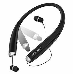 Bluetooth Headphones, AMORNO Foldable Wireless Neckband Head