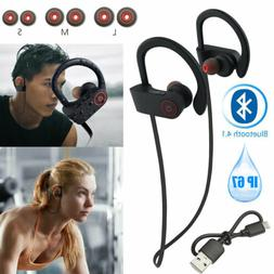 Bluetooth Headphones Headsets Waterproof IPX7 Wireless Bass