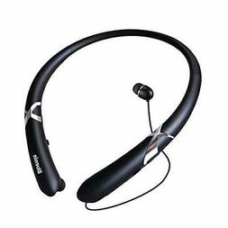 Bluetooth Headphones Retractable Earbuds Neckband Wireless H