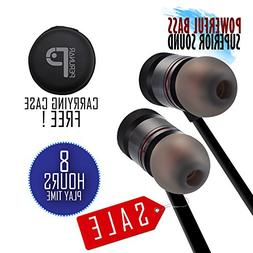 Bluetooth Headphones Sports Wireless Earbuds Stereo Sound Po