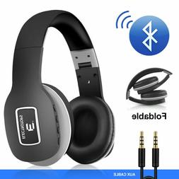 Bluetooth Headphones with Mic Super Bass Comfortable Over Ea