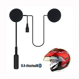 ESoku Motorcycle Bluetooth Headset, Wireless Helmet Headphon