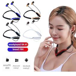 Bluetooth Neckband Headsets Wireless Earbud Earphone iN-Ear