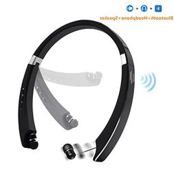 Retractable Bluetooth Headphone With Speaker, VICSOME 2 in 1