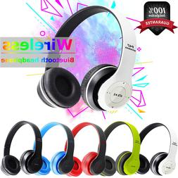 Bluetooth Wireless Headphones On Ear Foldable Stereo Noise C