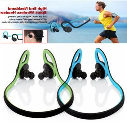 Bluetooth Wireless Neckband Sport Headset Headphones Headset