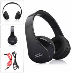 Bluetooth Wireless Stereo Headset Headphone +Manual +Cable F