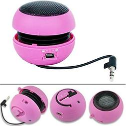 Compatible with Moto G6 - Wired Portable Loud Speaker Pink M
