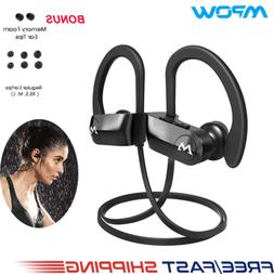 Mpow D7 Bluetooth Headset Richer Bass Headphones IPX7 Waterp