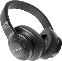 e55bt wireless bluetooth over ear headphones black