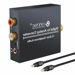 ESYNIC DAC Digital to Analog Audio Converter Optical Coax to