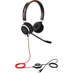 Jabra Evolve 40 UC Stereo Wired Headset / Music Headphones