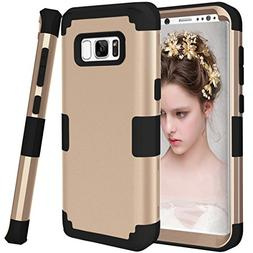 Galaxy S8+ Plus Case, Jeccy 3in1 Full-body Shockproof Anti-S