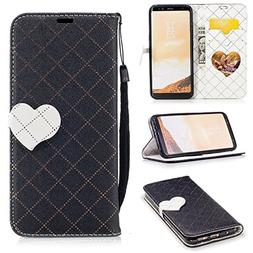 Galaxy S8 Wallet Case, Jeccy 2-in-1 Love Design Lightweight