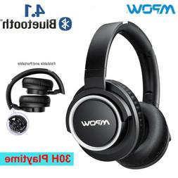 Mpow H3 Bluetooth Noise Cancelling Headphones Foldable In Ea