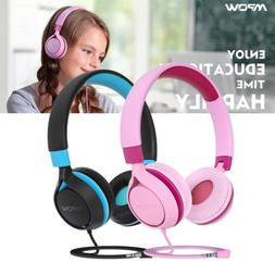 Mpow Kids Wired Headphones Foldable Headset Volume Limit Noi