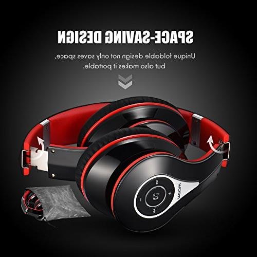 Mpow 059 Over Ear, Hi-Fi Wireless Soft Memory-Protein Earmuffs, Mic and Wired for PC/Cell