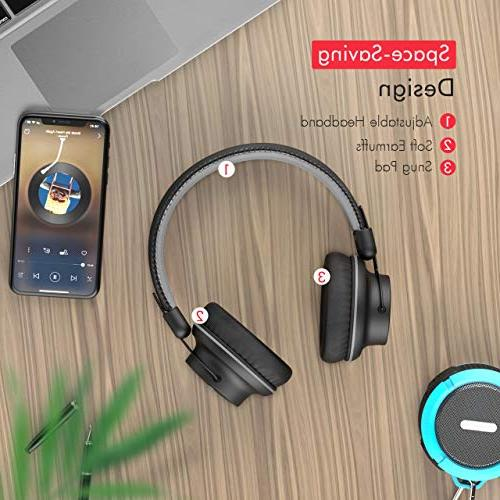 Mpow Lightweight Bluetooth Headset More Compact for Sport, Powerful Wired PC/Cell Phones-Matte