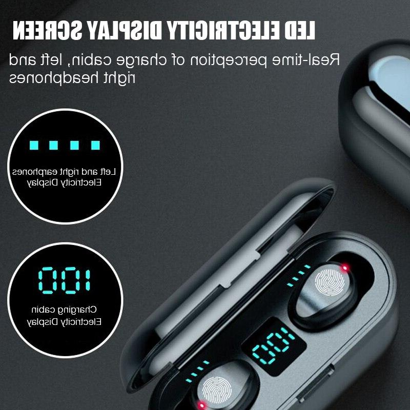 5.0 Wireless F9 Wireless <font><b>Bluetooth</b></font> LED With 2000mAh Power With Microphone