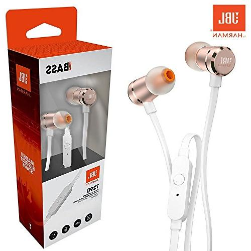 JBL Harman Bass Wired Rose Gold