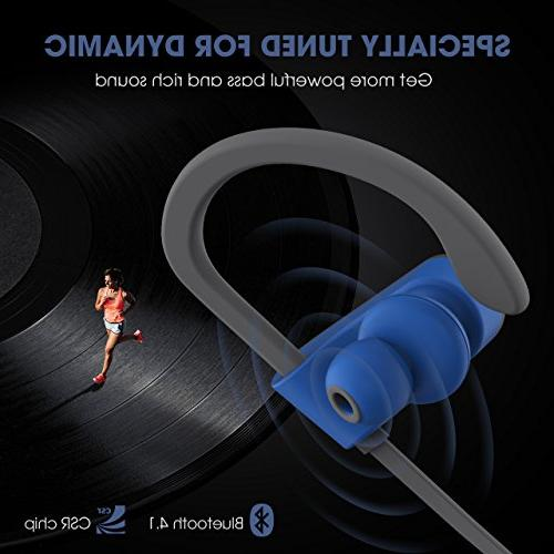 Mpow Flame Bluetooth Headphones Waterproof Sport, Richer Stereo Earphones Case, Hrs Noise Cancelling Headsets