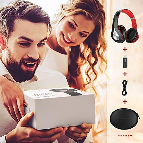 Mpow Bluetooth Transmitter Set, Play, Foldable, Light Weight Protable, Stereo Wireless Headset TV/Cell