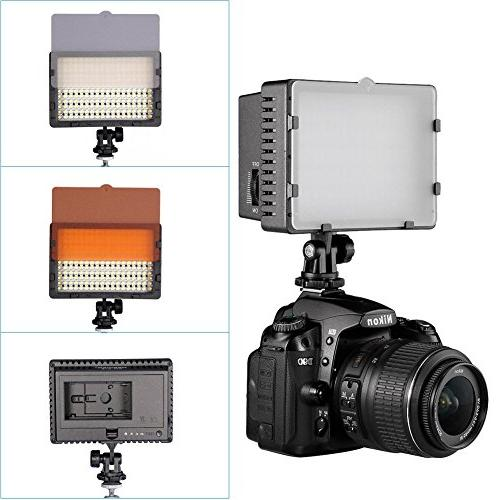 NEEWER CN-216 LED Dimmable Panel Camcorder Light Canon, Pentax, Panasonic, Samsung and Olympus Digital