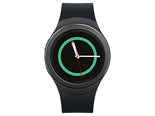 Samsung - Gear S2 Smartwatch 44mm Ceramic - Black Elastomer