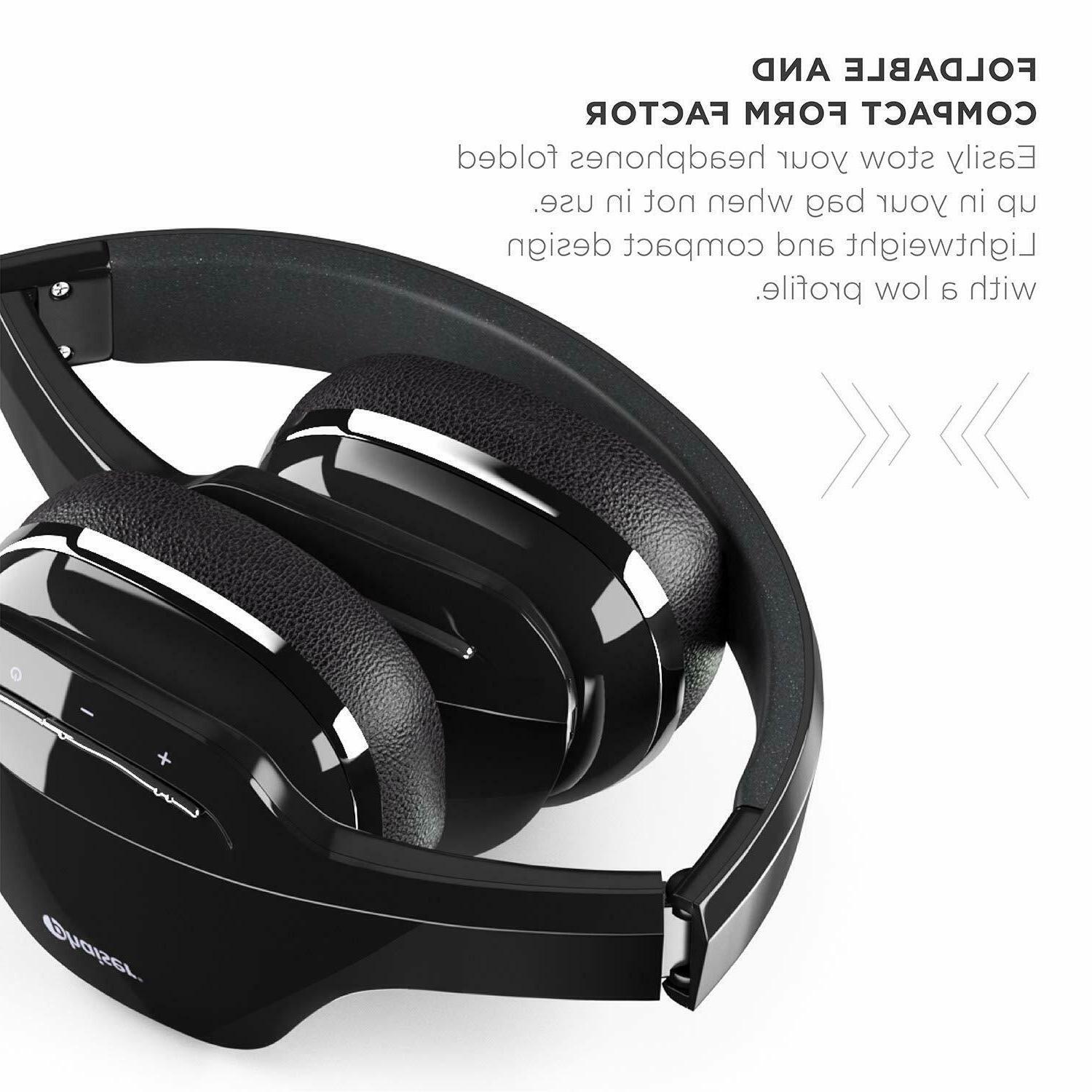 anc foldable wireless bluetooth headphones earphones stereo
