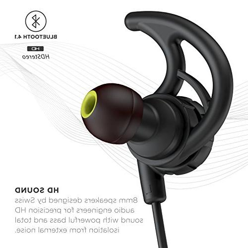 Phaiser BHS-750 Bluetooth Runner Headset Sport with Lifetime Sweatproof Guarantee Earbuds for