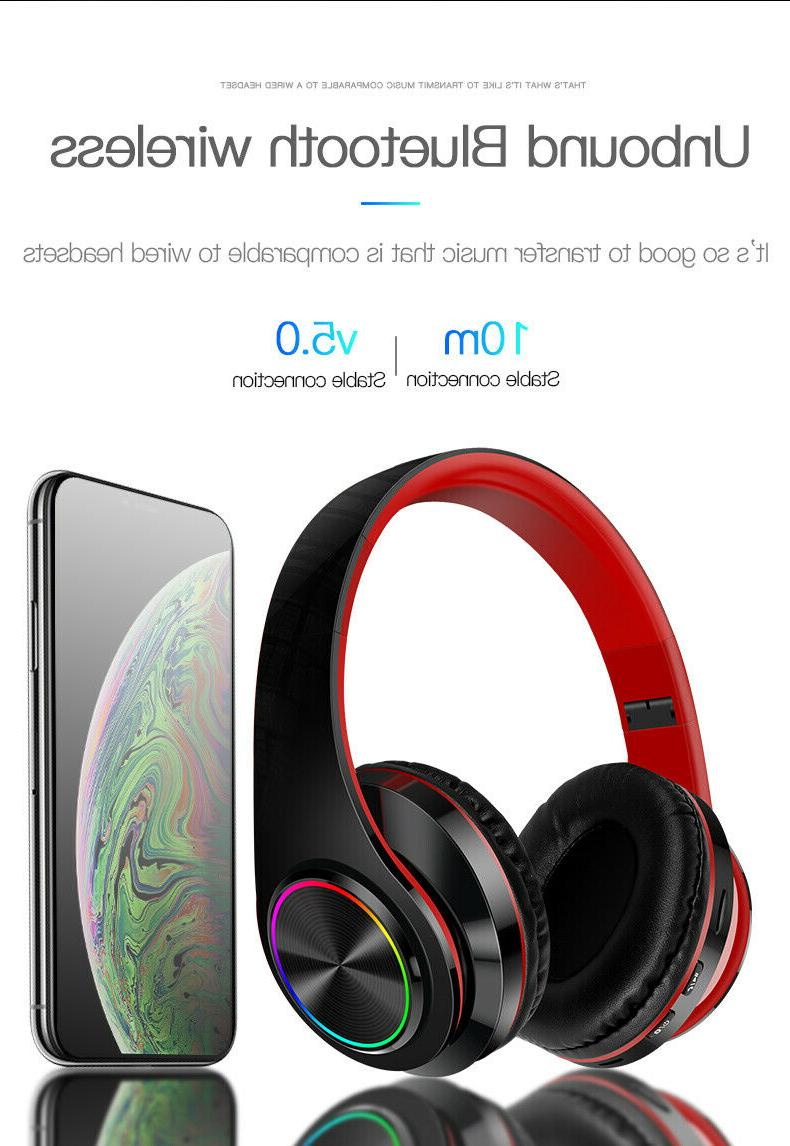 Bluetooth 5.0 Gaming Headphone Noise Cancelling
