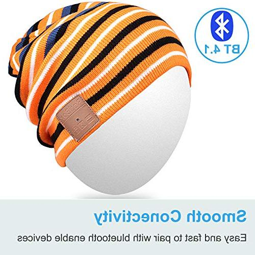 Bluetooth Beanie Hat,Mydeal Slouchy Skully Cap Wireless Bluetooth Earphone Music Phone Sports Workout
