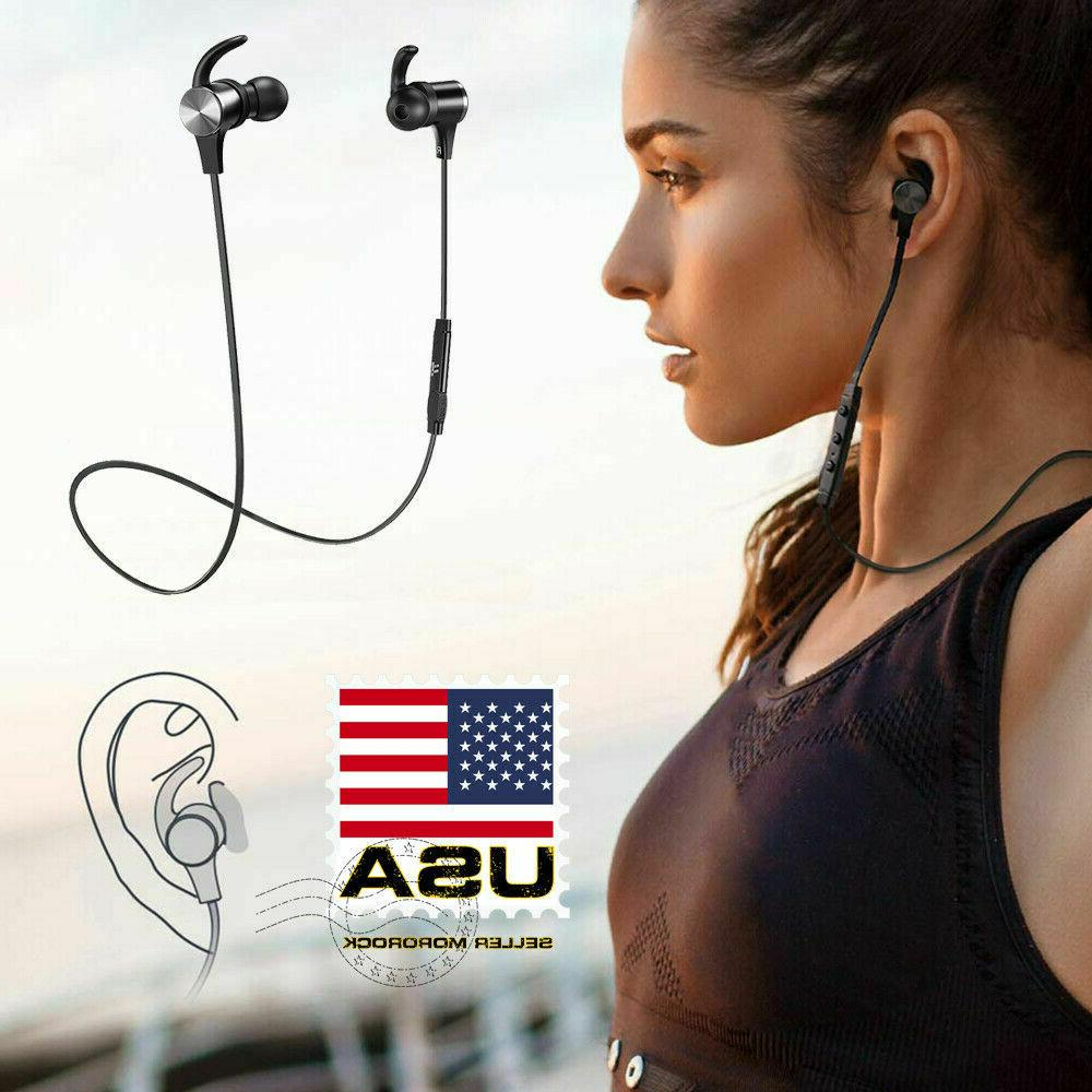 bluetooth earphone with mic headphone wireless earbuds