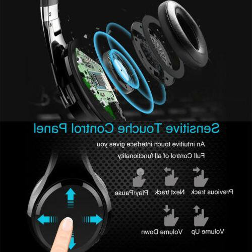 Bluetooth Headphones Deep Touch Control FM Radio for Cell