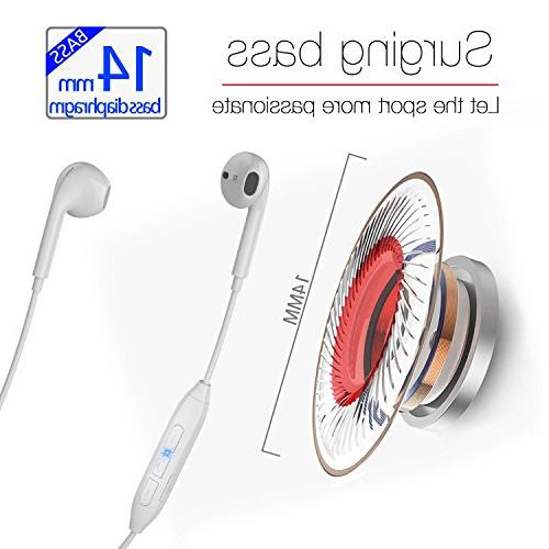 Bluetooth Headphones, Magnetic Wireless w/Mic plus/7/6, 8/7
