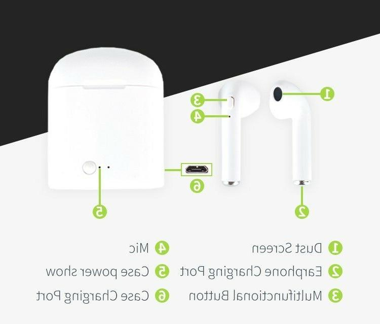 Bluetooth Wireless Earpods w/Charging For