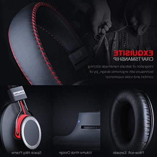Bluetooth Ear Headset End Chip Lossless Hi-Fi Stereo, Handmade Stylish Extra Comfortable Lightweight,Deep Bass Mic,Unique Gifts