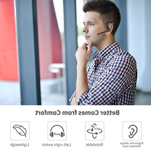 Hands-free Earpiece for Cell 2 Microphones Business/Driving/Office,