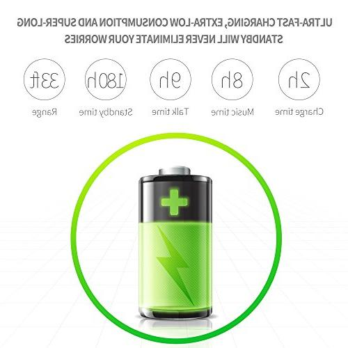 Bluetooth Hands-free Bluetooth Cell Phones, 2 Microphones Business/Driving/Office, Compatible with iPhone/Samsung/Android