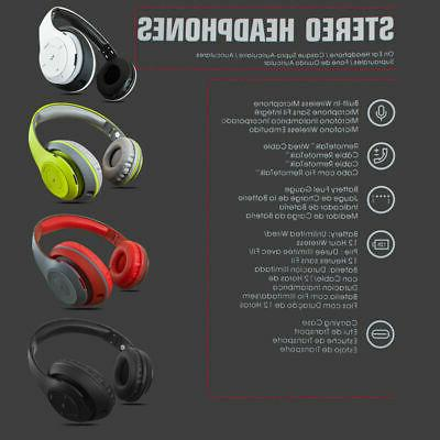 Bluetooth Headphones Stereo Foldable iPhone Samsung w/ Mic