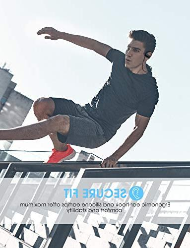 Mpow Bluetooth IPX7 Waterproof Real Sound Sports w/Mic, 10~12H Cancelling Earphones for Jogging,
