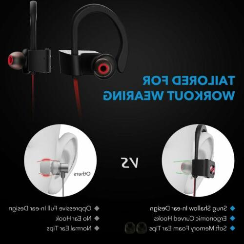 Mpow Headphones Sports Stereo Headsets Gym